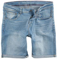 Regular Fit Denim Shorts Light Blue