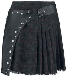 Checked Skirt with Apron