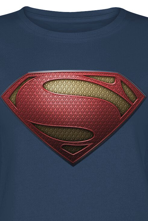 d869e7c1a44 Man Of Steel - Textured Logo. T-Shirt