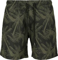 Pattern Swim Shorts Palm