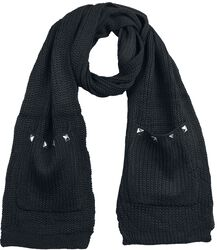 Wool Scarf with Pockets and Studs