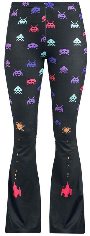 Black leggings with flare