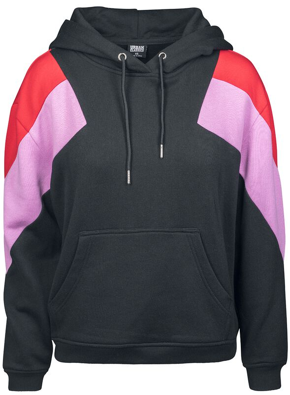 Ladies Oversize 3-Tone Block Hoody