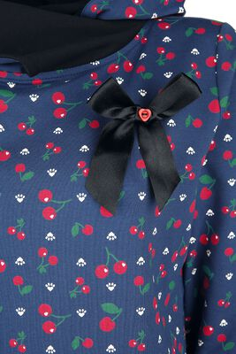 Cat Paws & Cherries Girl Shawl Hoodie
