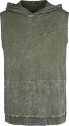 Olive-Coloured Top with Hood and Wash