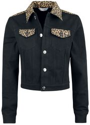 Rock n Roll Leopard Denim Jacket
