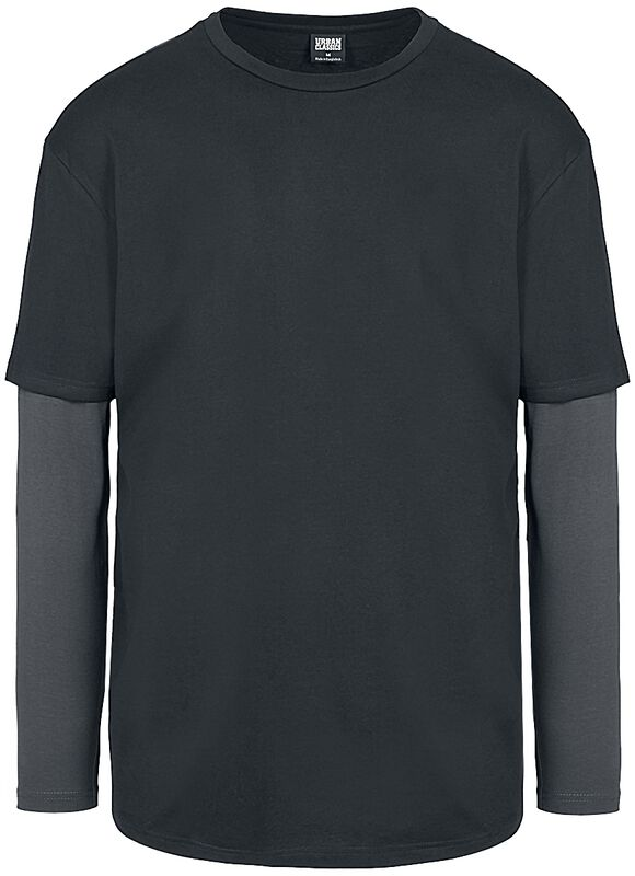 Oversized Shaped Double Layer LS Tee
