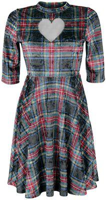 No Heart Velvet Tartan Dress