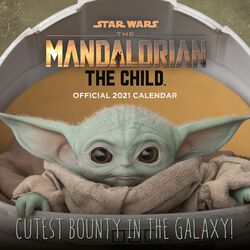 2021 Wall Calendar - The Mandalorian - The Child