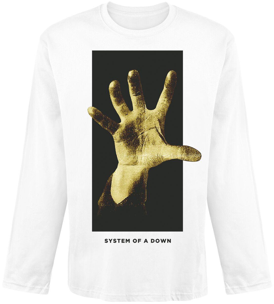 grabbing hand system of a down long sleeve shirt emp