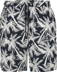 Pattern Resort Shorts - White Palm