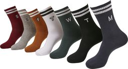 College Letter Socks 7-Pack
