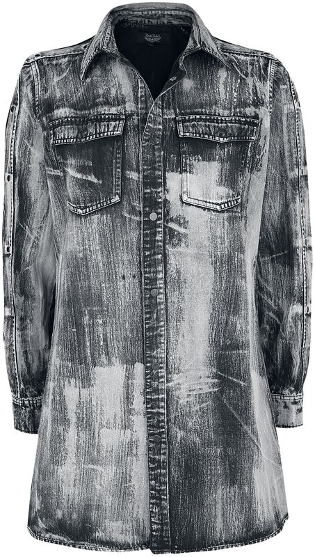 Denim Shirt with Eyelets