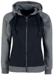 Black/grey hooded jacket