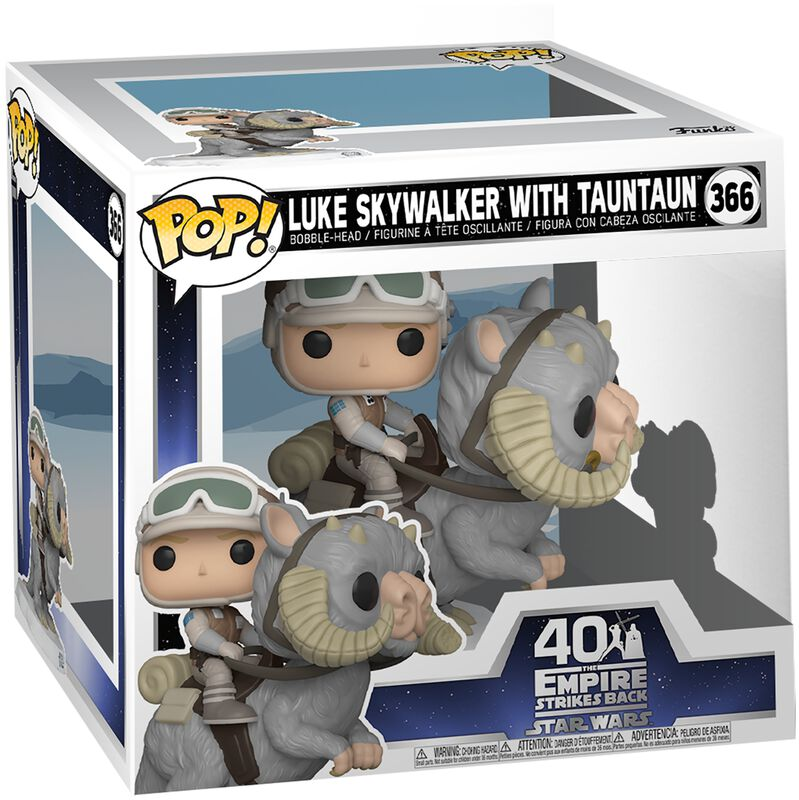 Empire Strikes Back 40th Anniversary - Luke Skywalker With TaunTaun (Super Pop!) Vinyl Figur 366