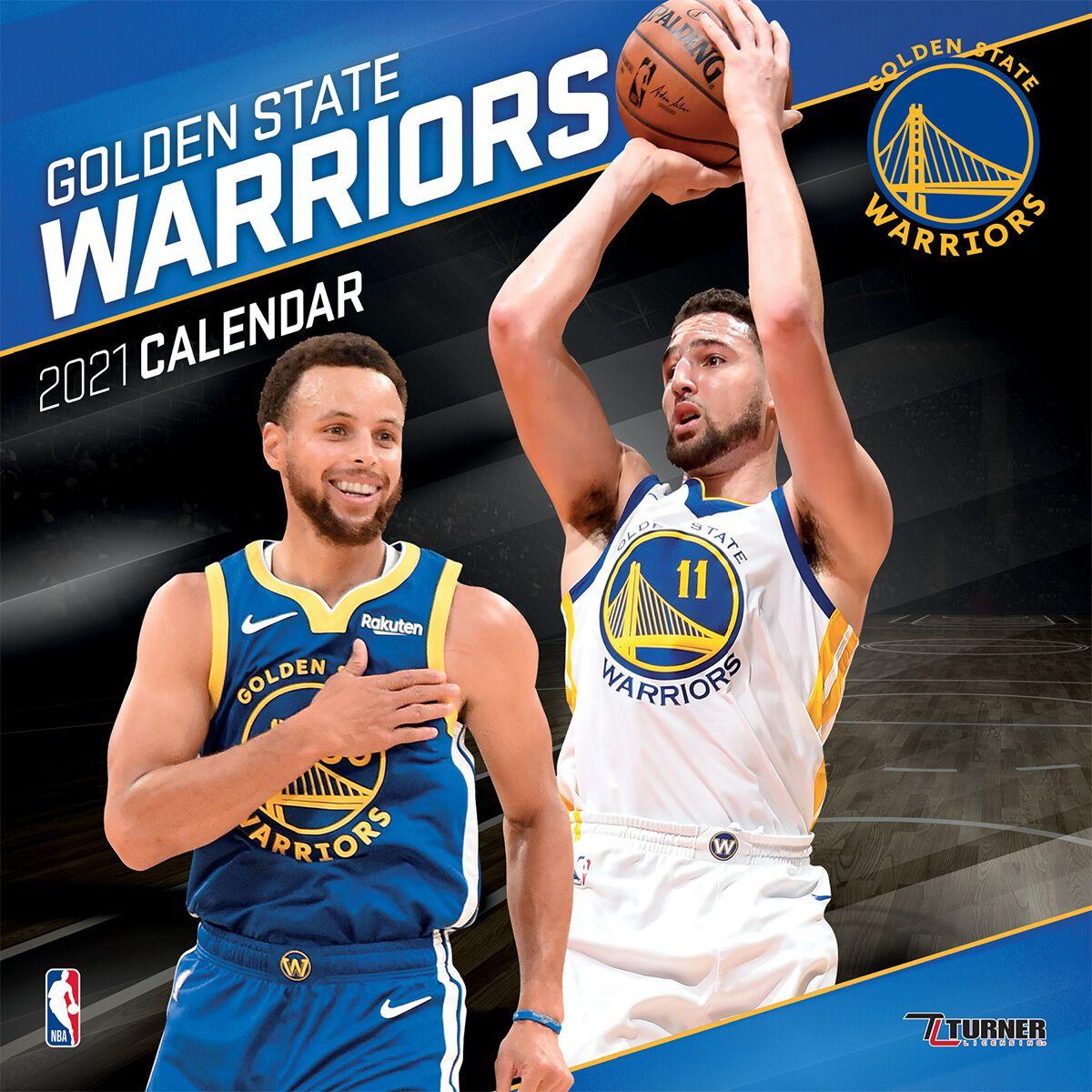 Calendrier 2021 Nba Golden State Warriors   Calendar 2021 | NBA Wall Calendar | EMP