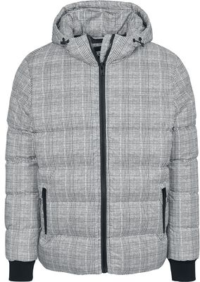 Hooded Check Puffer Jacket