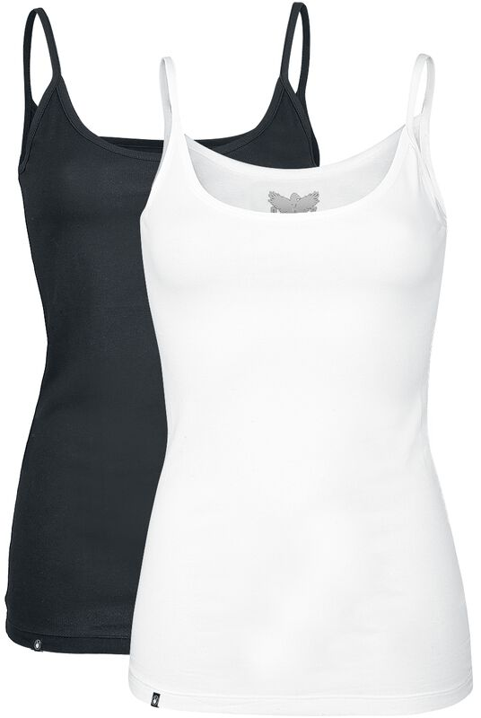Black/white Tops Double-Pack