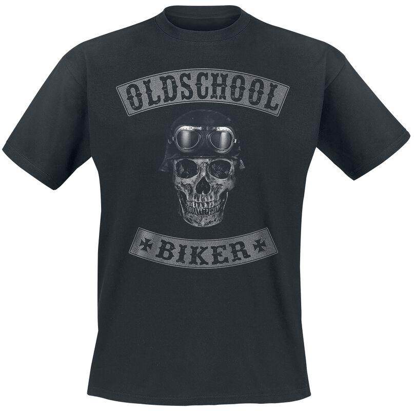 Oldschool Biker Skull