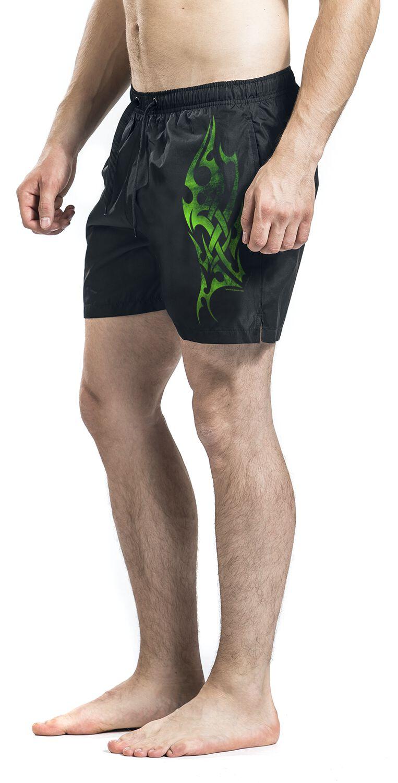 d4f6ff2ce0 Big Green Tribal Swim Shorts | EMP