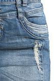 Ladies Destroyed Denim Skirt