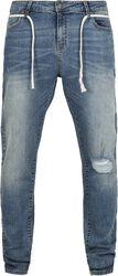 Slim Fit Drawstring Jeans