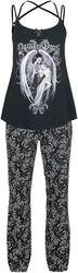Gothicana X Anne Stokes - Black Pyjamas with Print