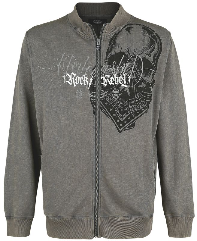 Jacket with prints and embroidery