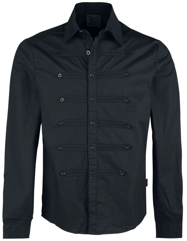 Shirt with Three Rows of Buttons