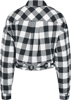 Ladies Short Oversized Check Shirt