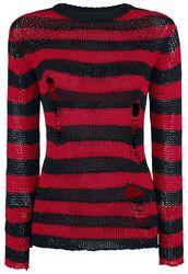 Freddy's Destroyed Stripe Sweater