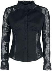 Black Shirt with Transparent Lace