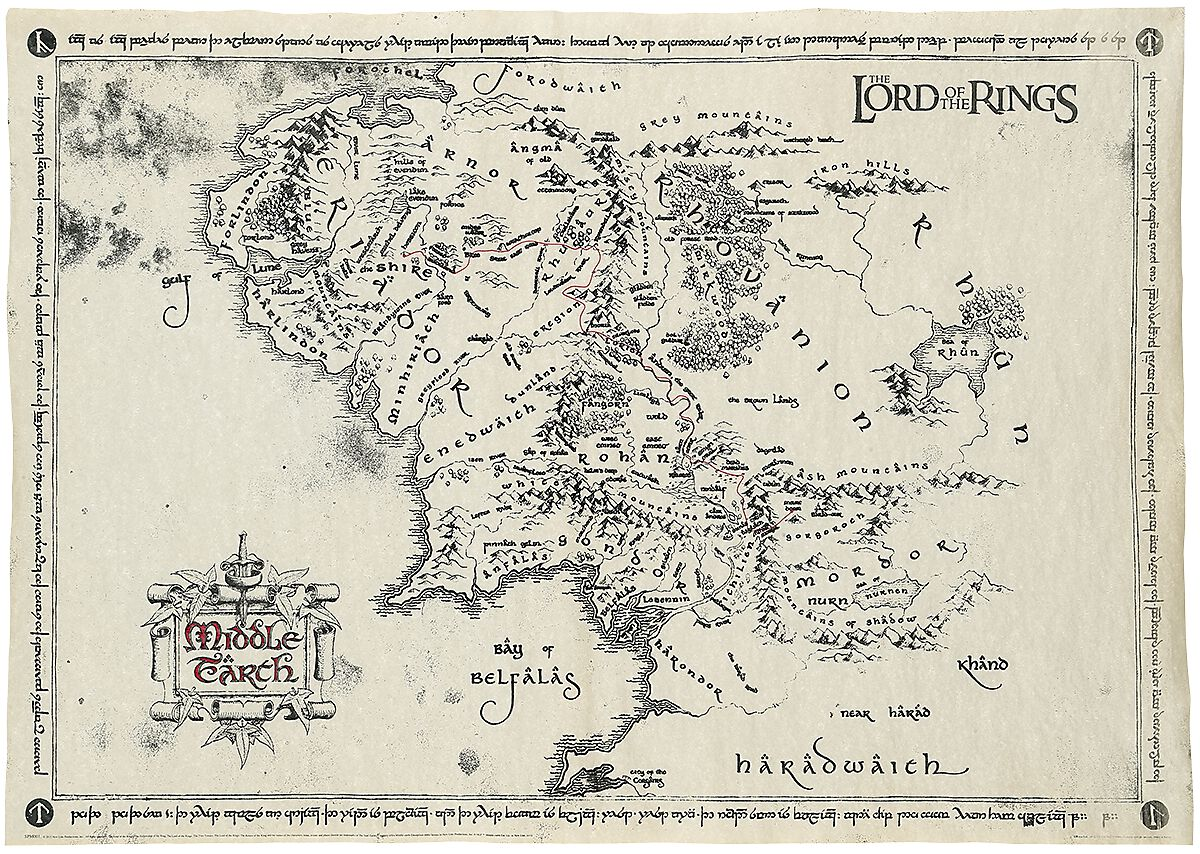 middle earth map poster 4 reviews more from the lord of the rings
