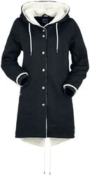 Coat with fleece lining