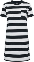 Ladies Stripe Boxy Tee Dress
