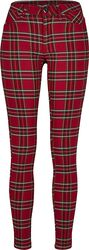 Ladies Skinny Tartan Pants