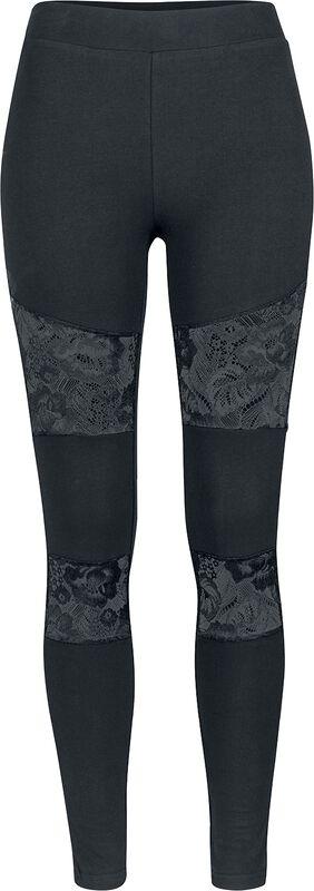 Ladies Lace Inset Leggings