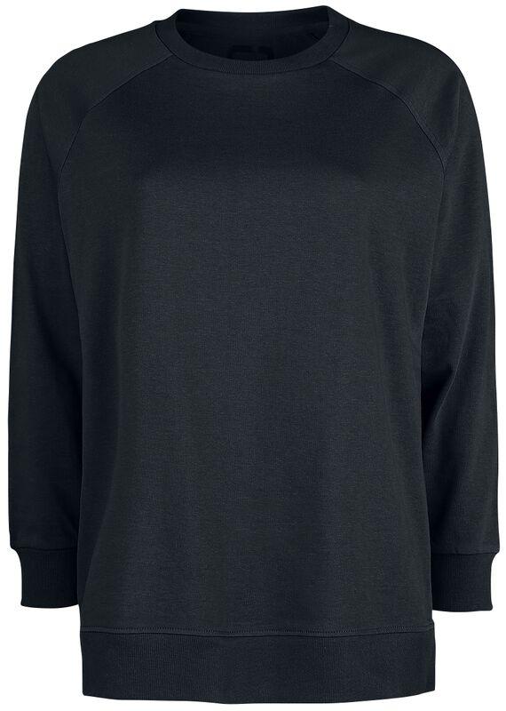 Relaxed Black Sweatshirt with Zips