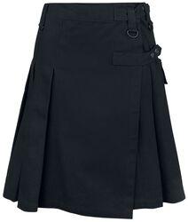 Black Kilt with Side Pocket and Print