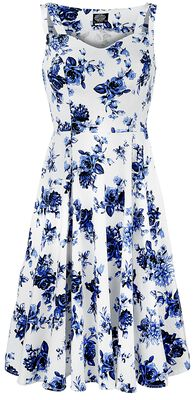 Blue Rosaceae Swing Dress