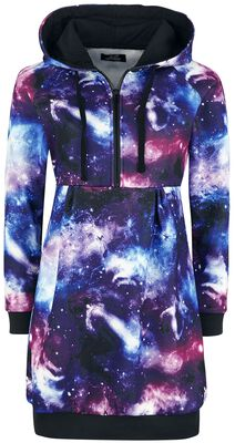 Dress with galaxy print