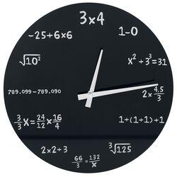 Mathematics Glass Wall-Clock