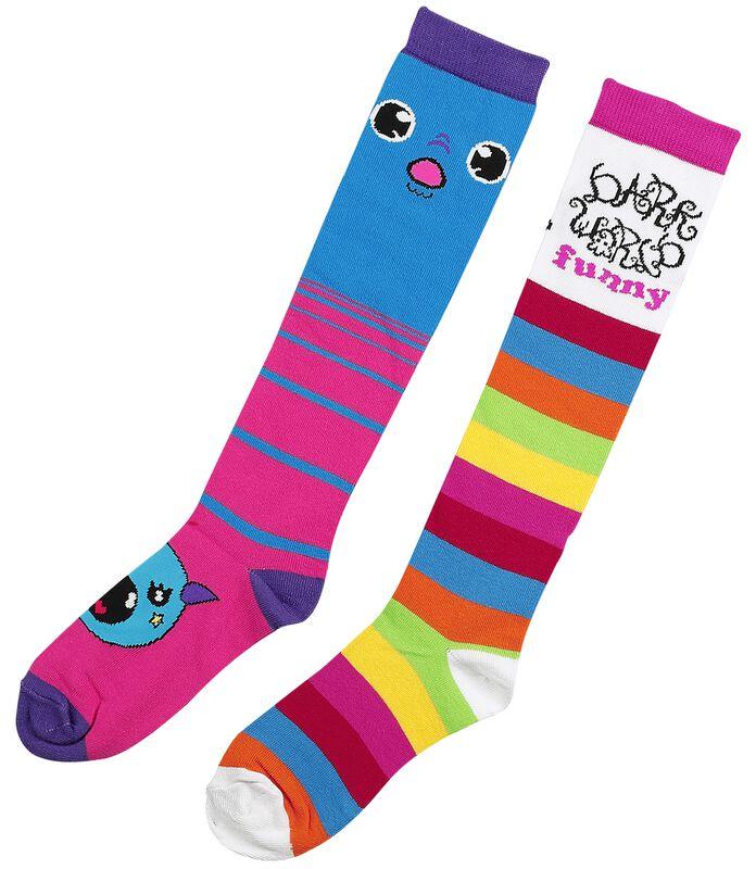 2-Pack of Monster Rainbow Socks
