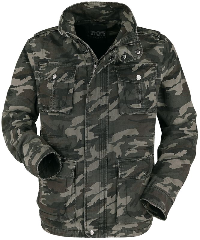 Army-Style Camoulage Jacket with Large Pockets