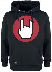 Black Hoodie with EMP Logo Print