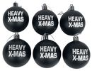 Set Of 6 Christmas Baubles