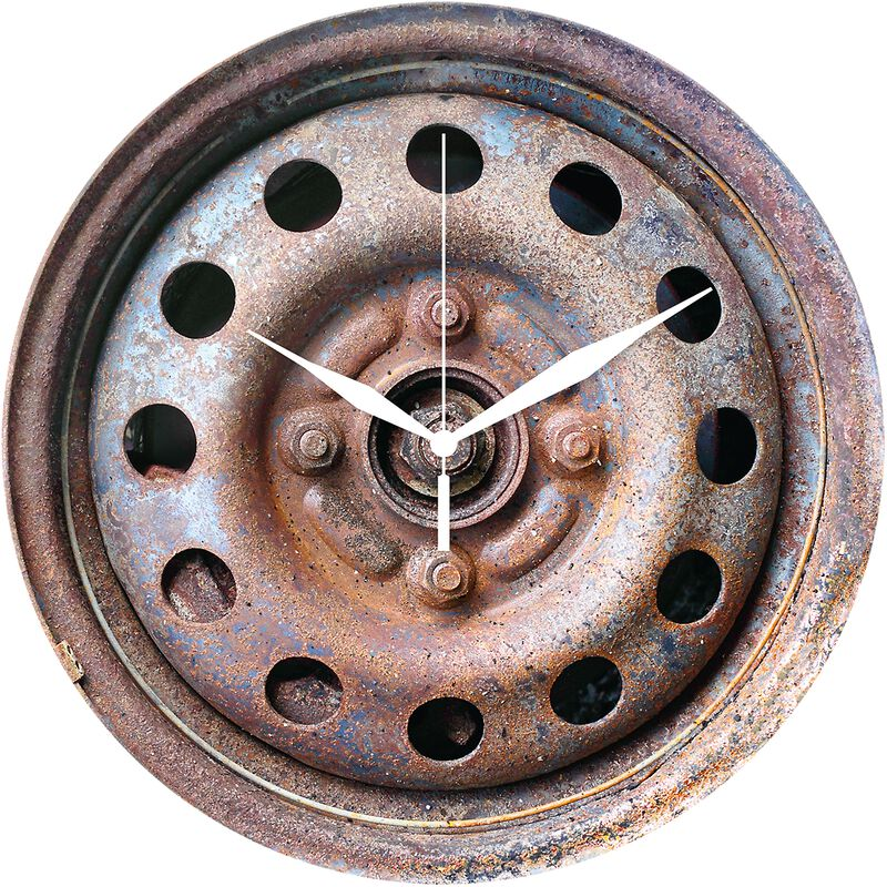 Glass Wall Clock Wheel Rim