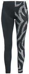 Black leggings with tribal print