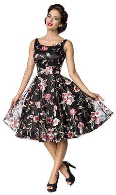 Retro Flower Dress Dark