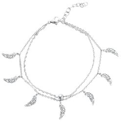 Feathers Multilayer Ankle Chain